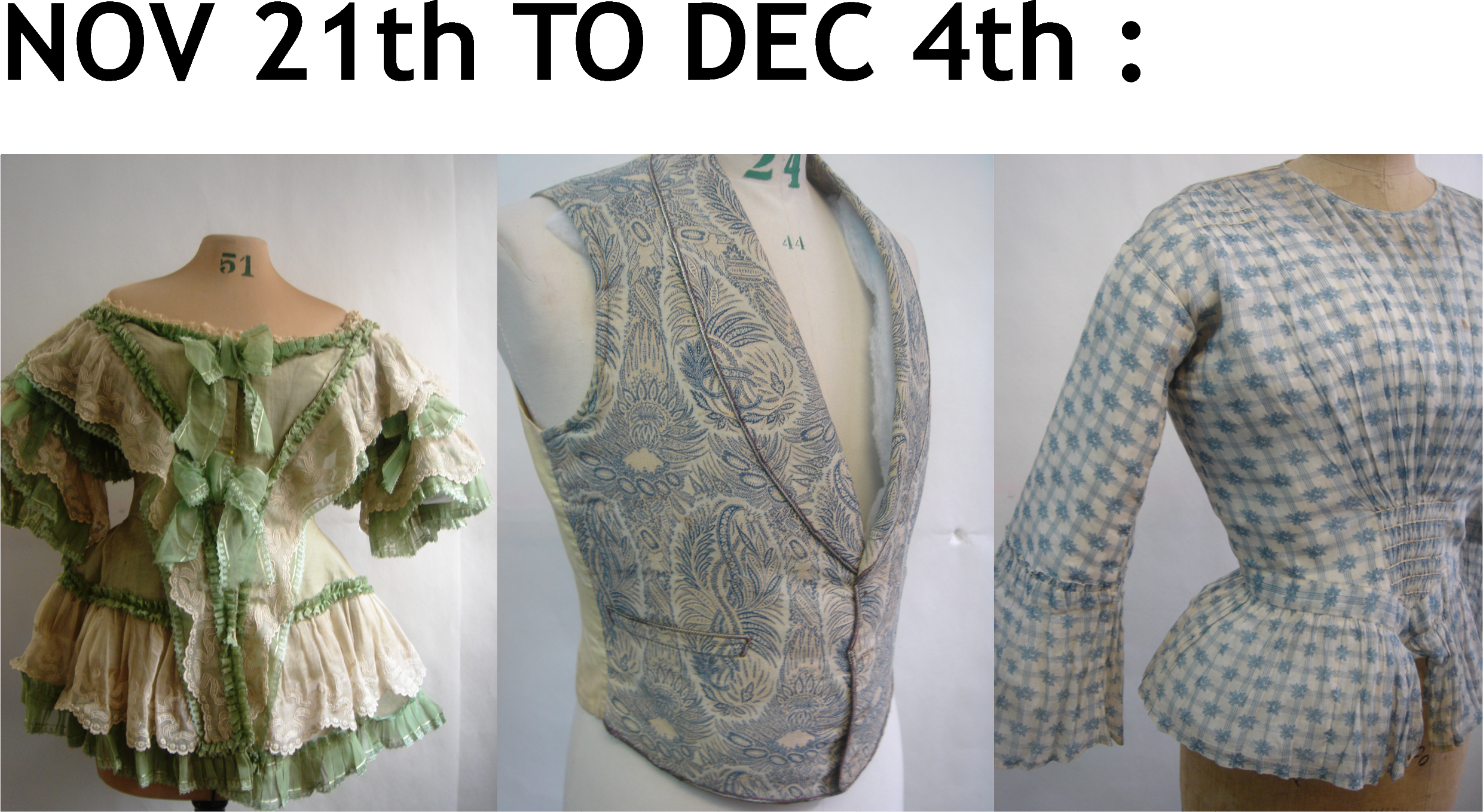 ANCIENT FASHION – sale on appointment